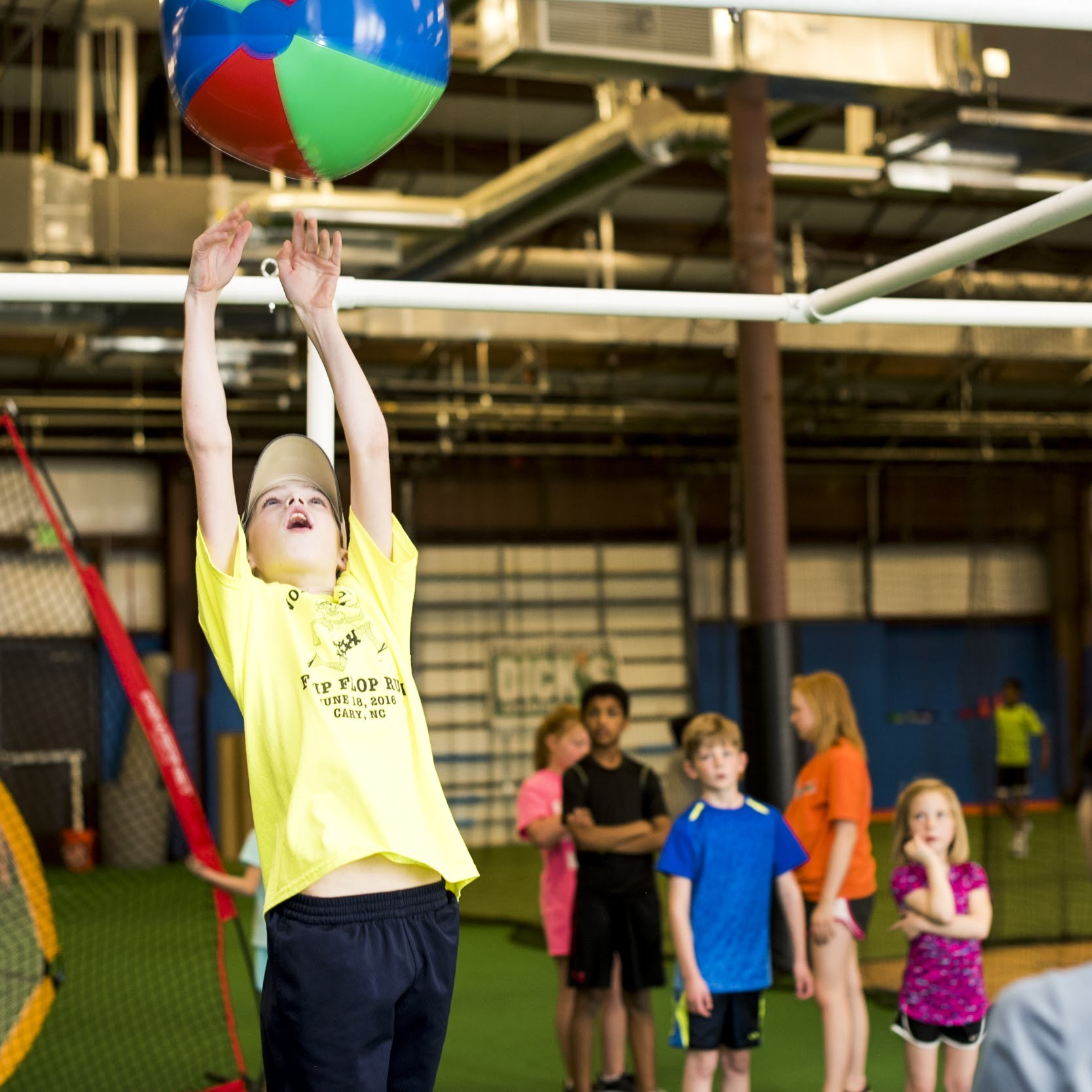 Huge Indoor Courts Turf Fields And Baseball Batting Cages PLUS Our Party Room Provide The Perfect Sports Birthday Space
